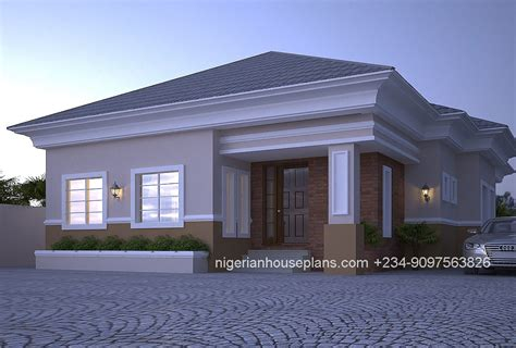 house with 4 bedrooms 4 bedroom bungalow ref 4012 nigerianhouseplans