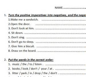 imperative verbs worksheet year 2 imperative verbs bossy