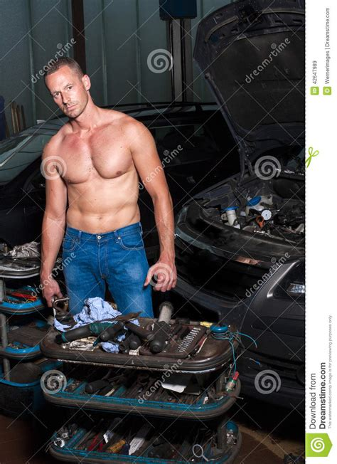 auto mechanic stock photo image