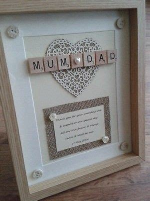 scrabble frame picture personalised rustic