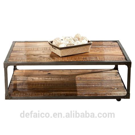 industrial wood coffee table industrial country style reclaimed solid wood coffee table