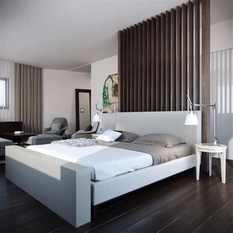 modern low bed calming modern interiors