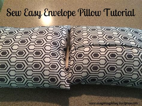 sewing pattern envelope pillow cover sew easy envelope pillow cover easy peasy pleasy