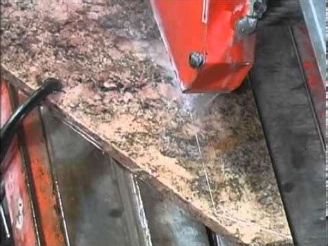 how to cut granite countertop for how to cut slab granite for kitchen countertops youtube