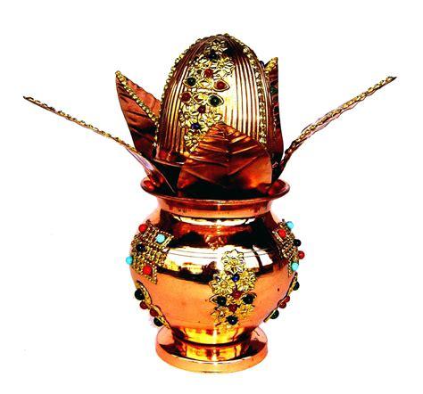 pooja online shopping copper 100 pure decorative pooja mangal kalash set