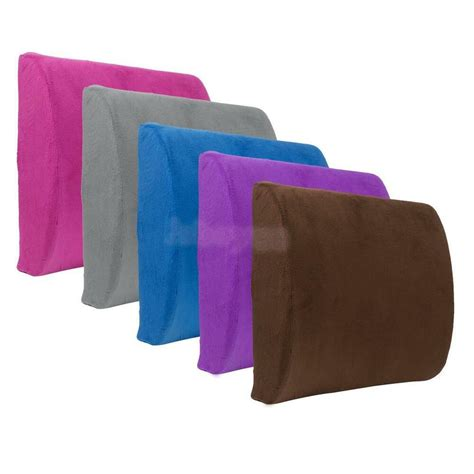 lumbar pillow for chair wedge memory foam car office home seat chair lumbar back