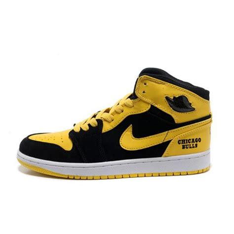 yellow sneaker air 1 air sole high black yellow sneakers on sale