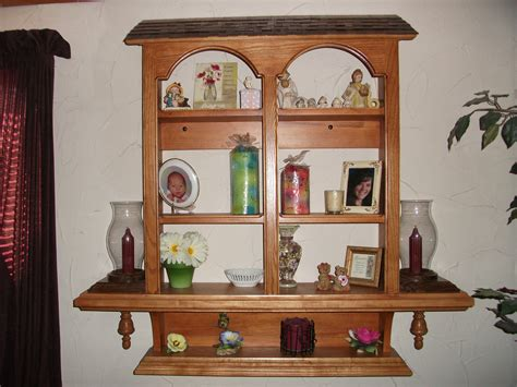 buy a made handmade wall hanging curio cabinet made