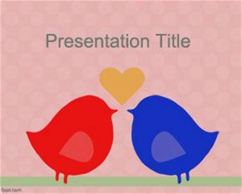 love templates for powerpoint 2010 free download love birds powerpoint template ppt template