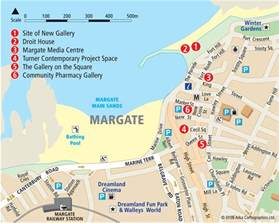 margate tourist map margate mappery