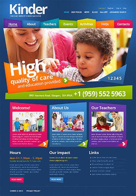 Drupal Themes Kindergarten | template 43465 kindergarten colorful drupal theme on behance
