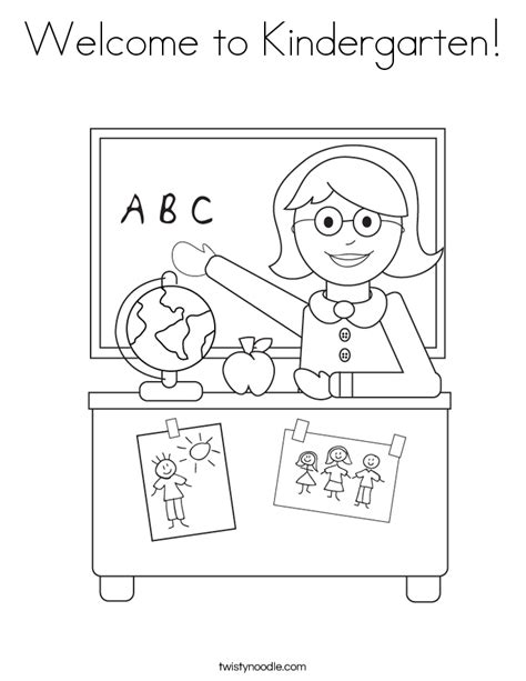 coloring pages for teachers welcome to kindergarten coloring page twisty noodle