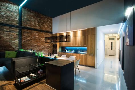kitchen lighting solutions modern loft with surprising elements