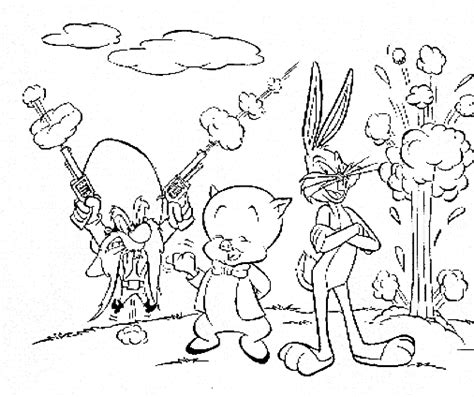 porky pig coloring pages looney tunes