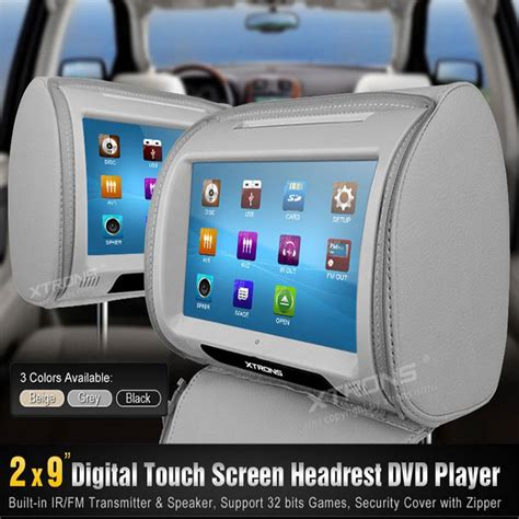 back seat dvd player 2017 pair2 9 car back seat entertainment system with dvd