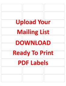labels 5160 template create labels from your mailing list in excel
