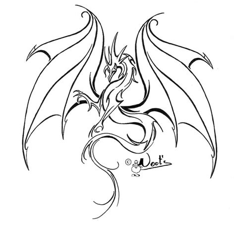 dragon tattoo outline designs best outline design