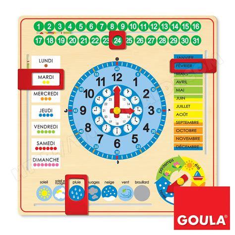 Calendrier Enfant Horloge Calendrier Enfant Goula Icalendrier