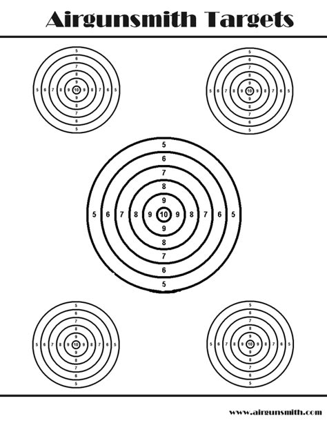 printable targets airguns printable targets the villages air gun club targets