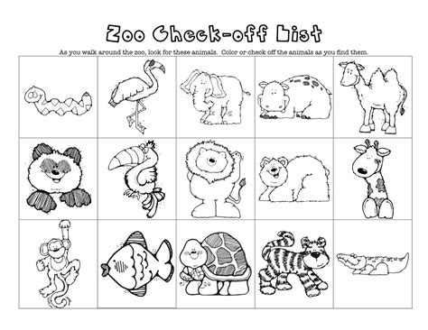 zoo coloring pages preschool printable zoo animals acp zoo theme of animals printables