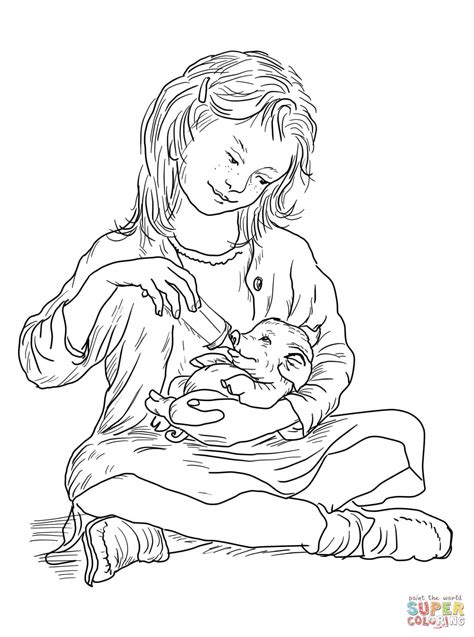Charlotte's Web Coloring Page   Free Printable Coloring
