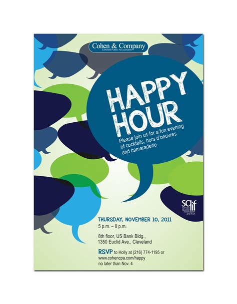 happy hour invitation template cohen company by beck at coroflot