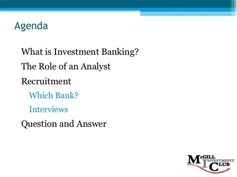 Mba 2 Years Investment Banking by Investment Banking 101 F08