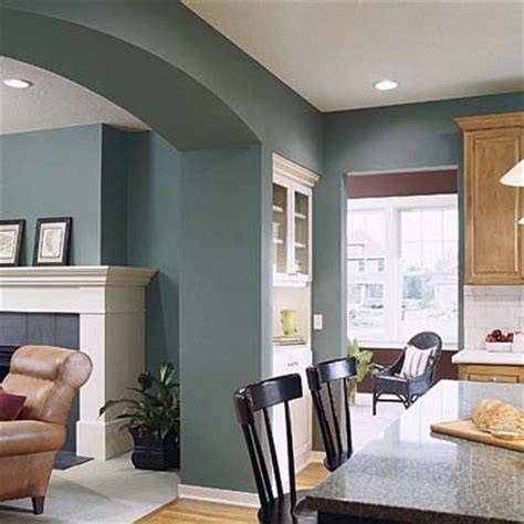 Home Interior Paint Schemes Crisp And Clean Tealy Green Brilliant Interior Paint