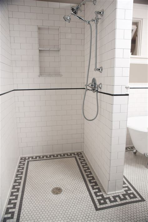 Subway tile shower traditional bathroom minneapolis by clay