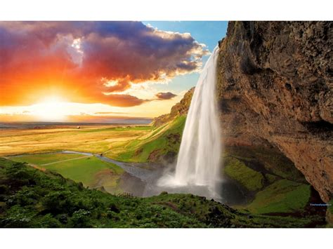 seljalandsfoss waterfall iceland wallpapers
