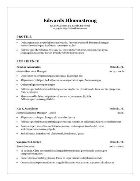 Resume Template Hloom by 54 Basic Resume Templates Hloom With Basic Resume