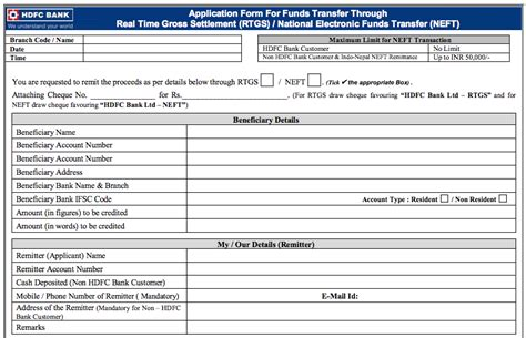 Credit Card Application Form For Hdfc hdfc credit card pay through neft infocard co