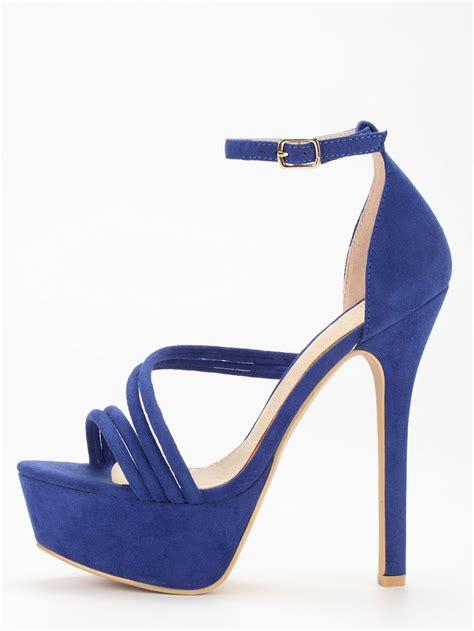 blue high heel blue platform high heel sandals shein sheinside