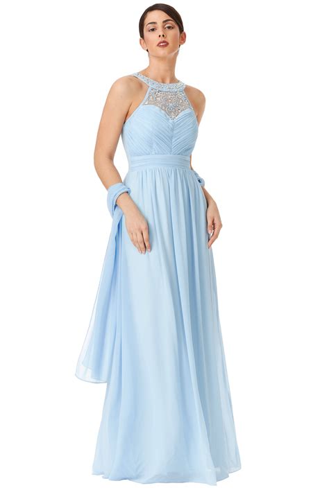 light blue womens dress shoes goddiva womens light blue maxi dress with scarf