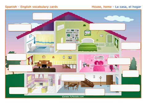 imagenes en ingles de cumpleaños vocabulario la casa the house imprimir vocabulario