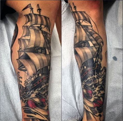 nautical tattoo sleeve top 75 best sailor tattoos for classic nautical designs