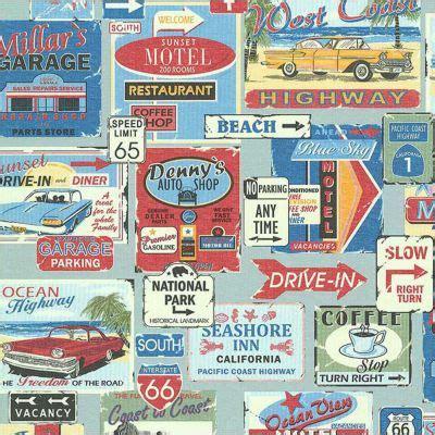 Tapisserie Retro by Papier Peint Vintage Bleu Castorama
