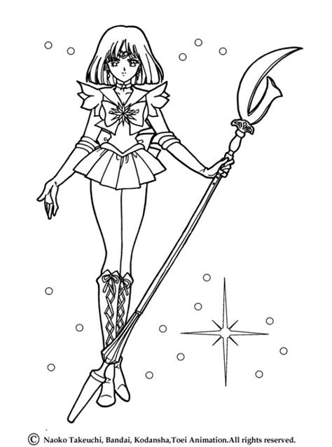 sailor saturn in her original uniform coloring pages