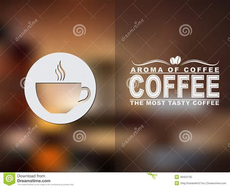 coffee text wallpaper coffee cup icon and text design with a blurred background