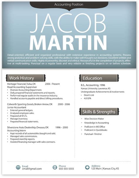 stylish cv format word free modern resume template 4 free resume templates