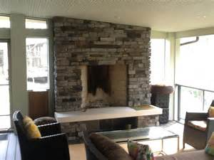 Porch Fireplace by Outdoor Fireplaces And Pits Columbus Decks Porches