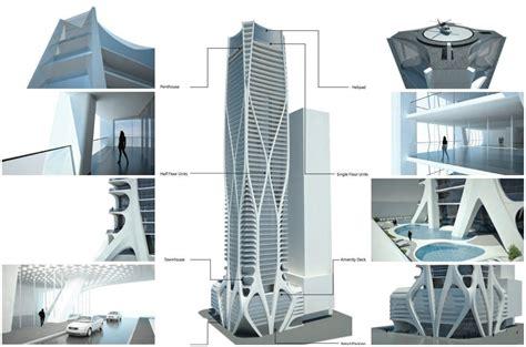 Cayan Tower Floor Plan Un Edificio Con Helic 243 Ptero En Downtown Miami Por Zaha
