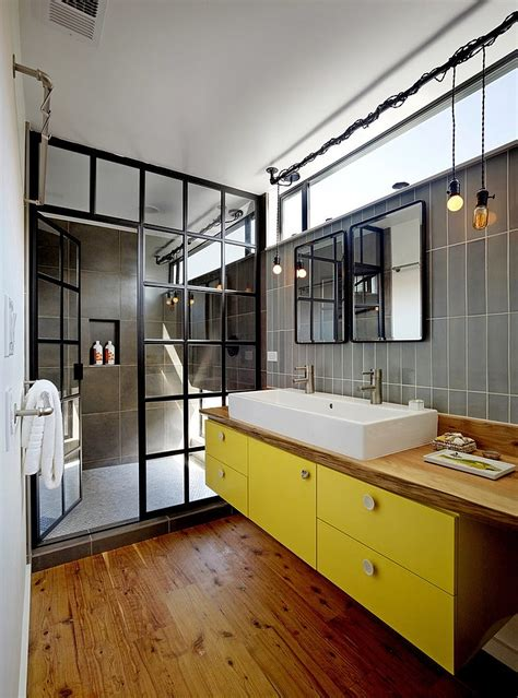 industrial shower door 10 fabulous bathrooms with industrial style