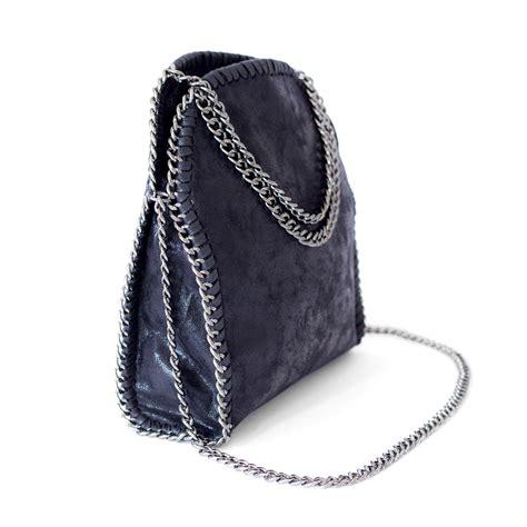 black chaign black chain bag faux leather mini tote beehola ebay
