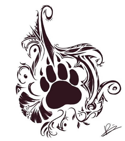 tribal paw tattoo 10 best ideas about tribal tattoos on