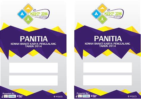 Template Id Card Panitia by Pramuka