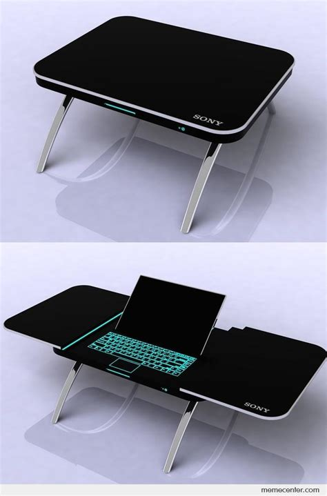 sony coffee table x laptop by ben meme center