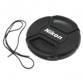 Tutup Lensa Lens Cap Canon 77 Mm front cover rear lens cap for nikon with logo black