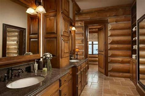 log cabin bathroom bathroom ideas