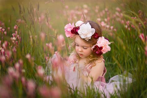 Wallpaper Cute girl, Meadow, Wreath, HD, 5K, Cute, #4052